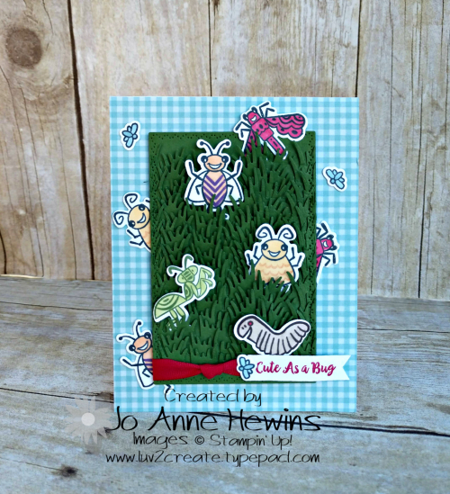 Wiggle Worm Card by Jo Anne Hewins