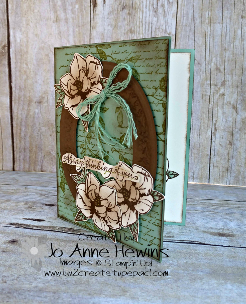 Color Fusers for March Magnolia Card by Jo Anne Hewins