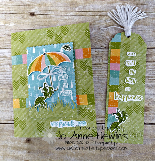 OSAT March Animal Card and Bookmark by Jo Anne Hewins