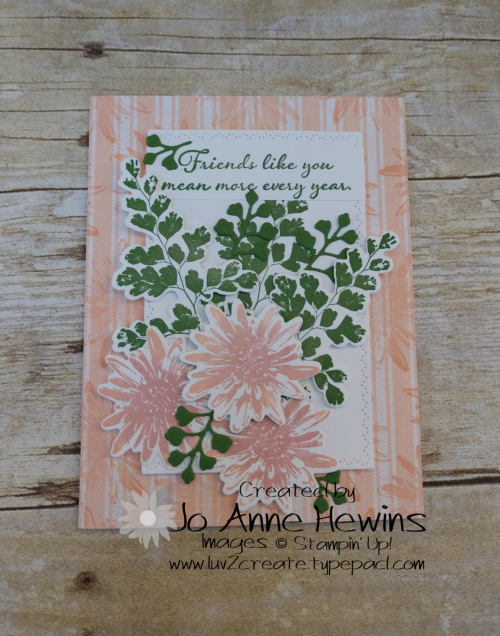 Positive Thoughts Card by Jo Anne Hewins