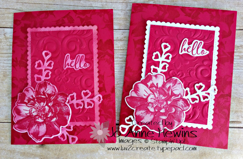 NC Blog Hop To a Wild Rose 2 Versions by Jo Anne Hewins
