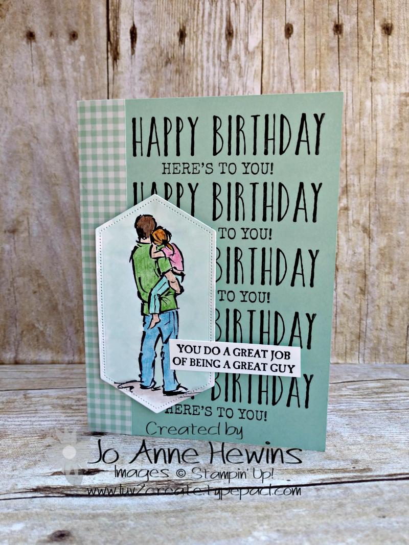 A Good Man Birthday Card by Jo Anne Hewins