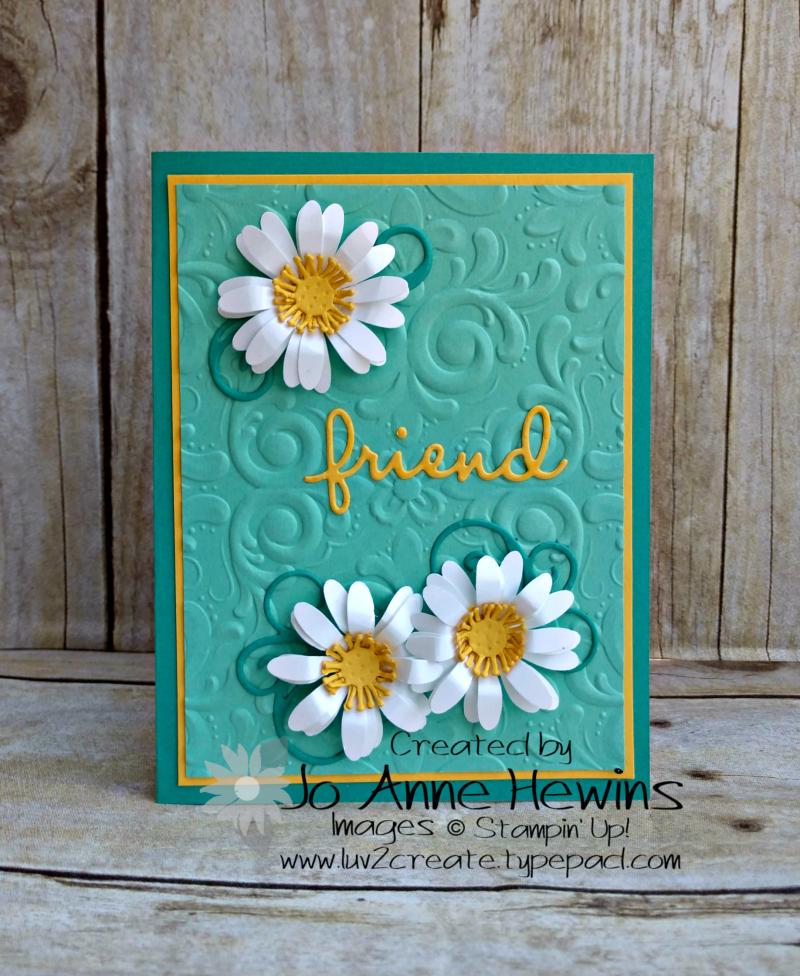 CCMC #609 Medium Daisy Punch Card by Jo Anne Hewins