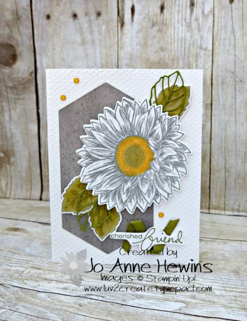 Celebrate Sunflowers NC Swap Card by Jo Anne Hewins