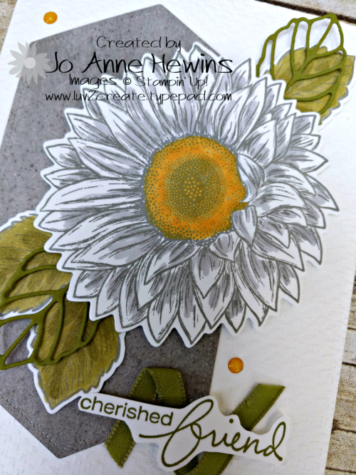 Celebrate Sunflowers NC Swap Close Up by Jo Anne Hewins