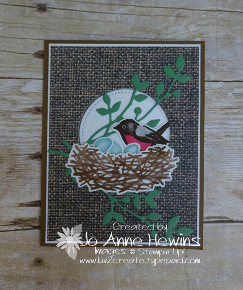 OSAT Birds and Branches Tucked Z Fold by Jo Anne Hewins