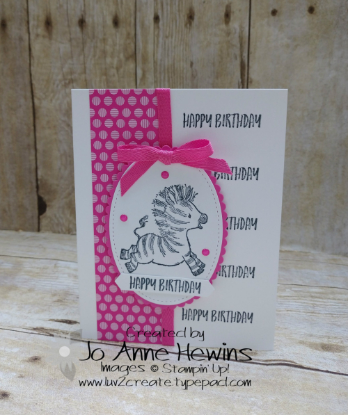 Zany Zebras Hinge Stamping Project by Jo Anne Hewins