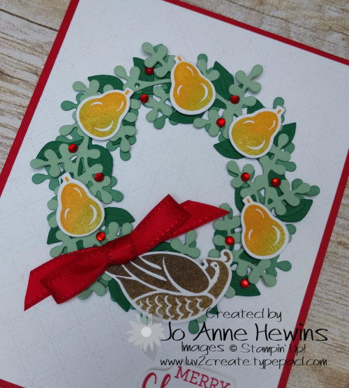 Arrange a Wreath partridge in a Pear Tree Close up by Jo Anne Hewins