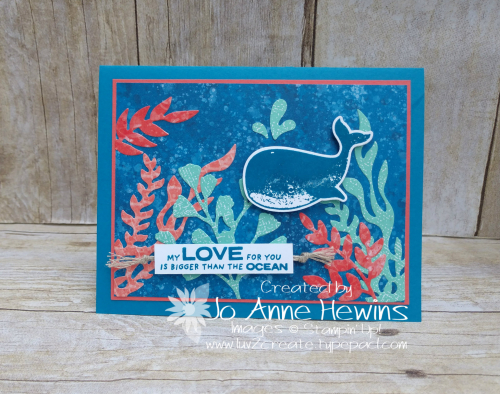 Color Fusers July Whale Done Card by Jo Anne Hewins