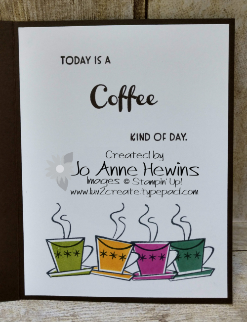 Nothing's Better Than Coffee Inside by Jo Anne Hewins
