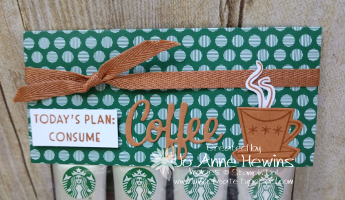 Nothing's Better Than Starbucks Coffee Holder Topper by Jo Anne Hewins