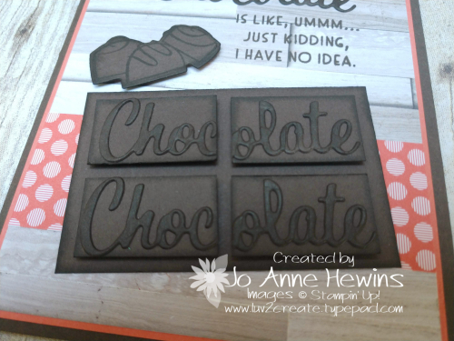Nothing's Better Than Chocolate Bar Close Up by Jo Anne Hewins