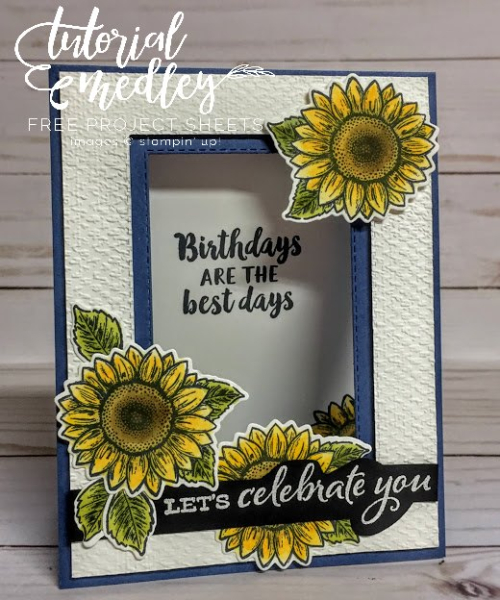 Tutorial Medley for July Celebrate Sunflowers by Cathy Davis Autrey