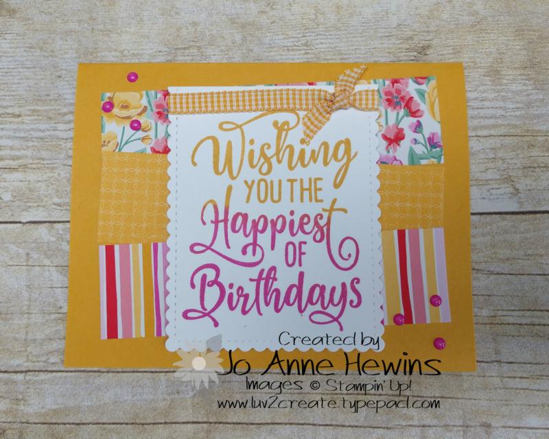 CCMC #622 Happiest of Birthdays by Jo Anne Hewins