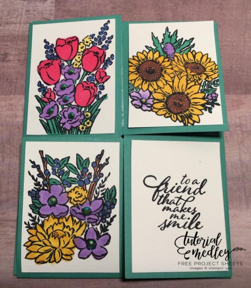Tutorial Medley for July Jar of Flowers by Jeanine Tarrio