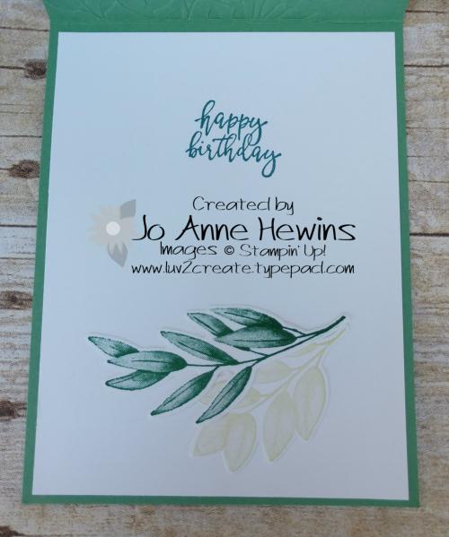 Forever Fern Inside by Jo Anne Hewins