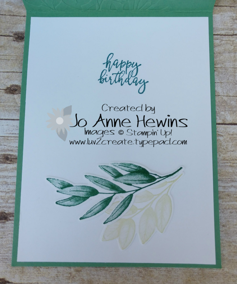 Forever Fern Inside by Jo Anne Hewins