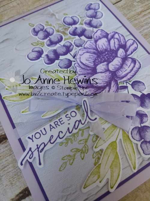 Color Fusers Tasteful Touches for August Close Up of Card by Jo Anne Hewins