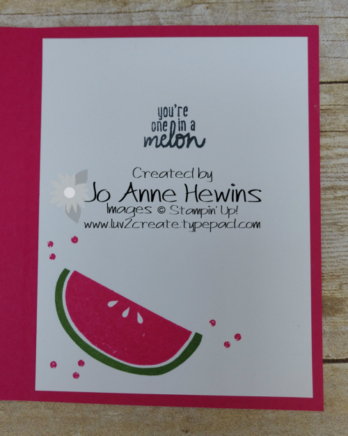 Cute Fruit Inside by Jo Anne Hewins