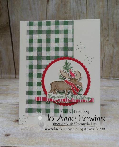 CCMC #625 Merry Moose Card by Jo Anne Hewins