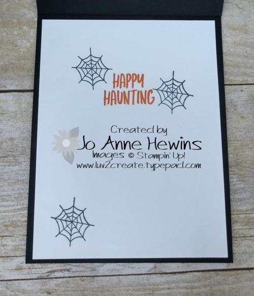 Banner Year Inside of Card by Jo Anne Hewins