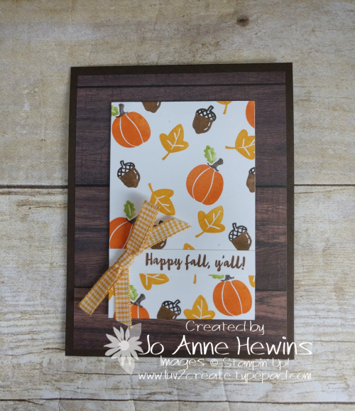Banner Year Fall Card by Jo Anne Hewins