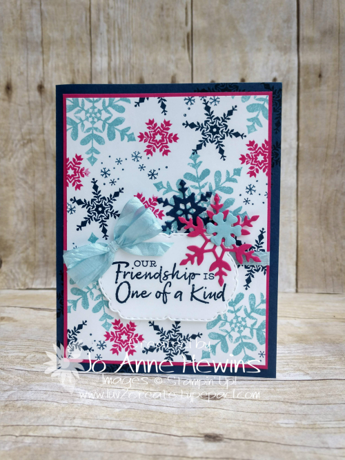 Snowflake Wishes Card by Jo Anne Hewins