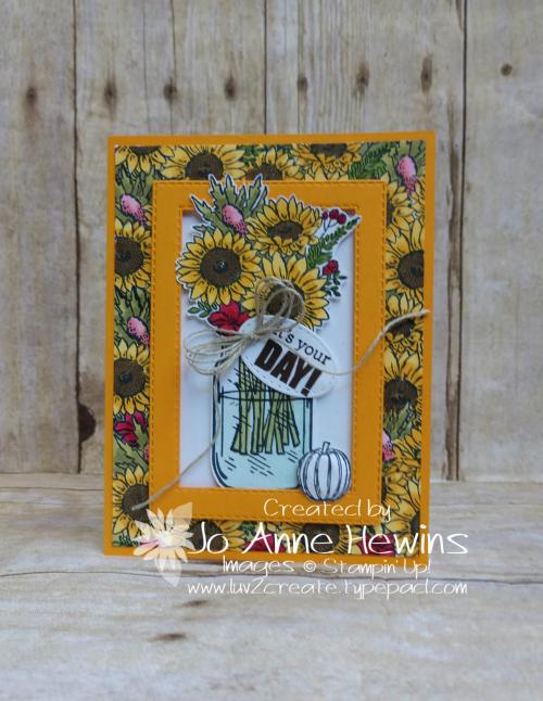 Jar of Flowers for Jessie Birthday by Jo Anne Hewins