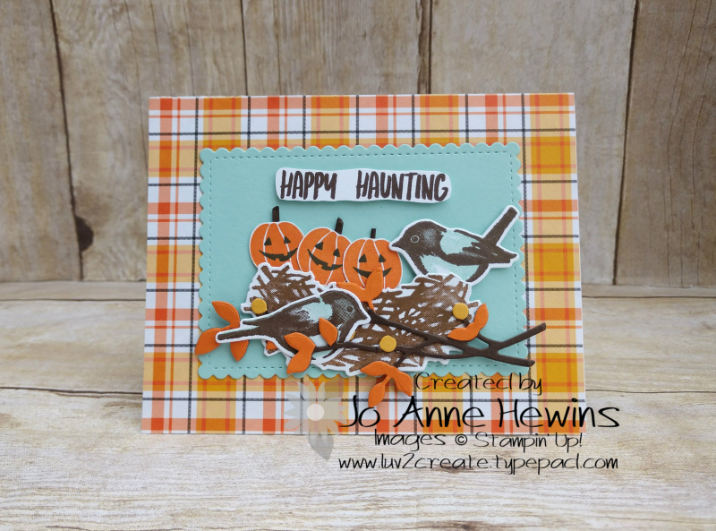 NC Demo Blog Hop Birds & Branches Halloween Project by Jo Anne Hewins