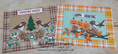 NC Demo Blog Hop Birds & Branches Holiday Cards by Jo Anne Hewins