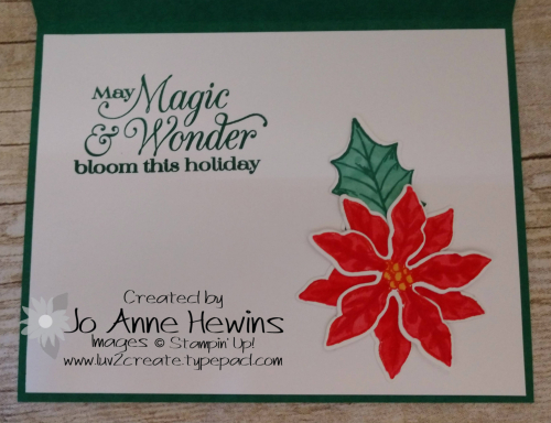 Color Fusers November Inside Poinsettia Petals by Jo Anne Hewins