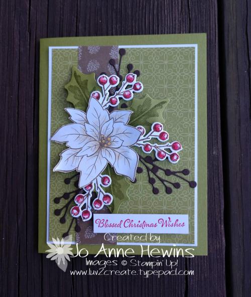 Poinsettia Petals by Jo Anne Hewins