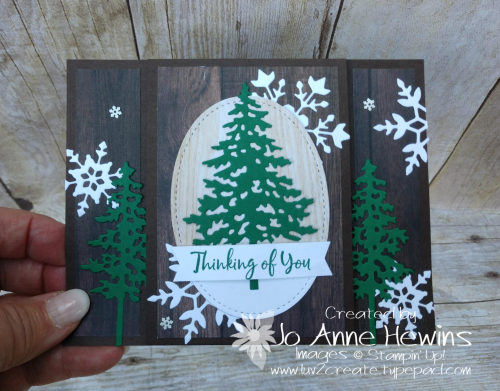 In the Pines Tutorial Card  by Jo Anne Hewins
