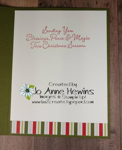 CCMC #641 Wreath Builder Inside of Card by Jo Anne Hewins