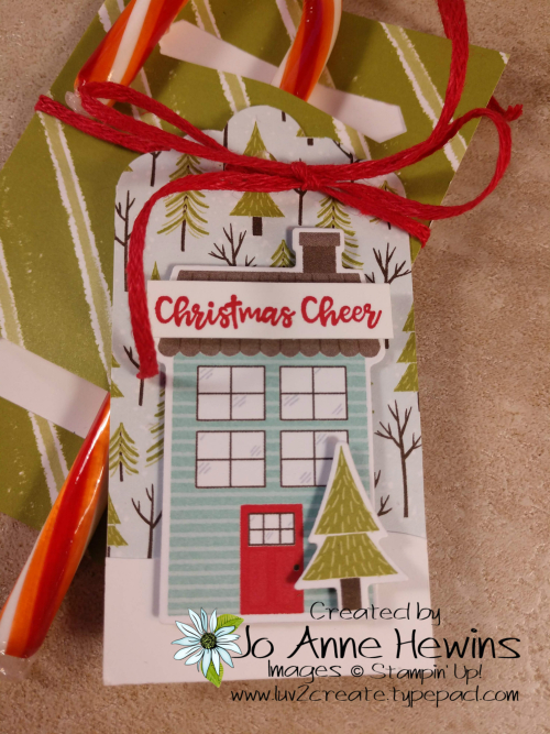 Candy Cane Holder Tag Using the Trimming the Town DSP by Jo Anne Hewins