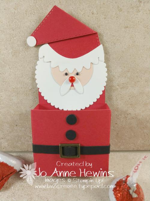Little Treat Box Dies Santa Die Cut Art by Jo Anne Hewins