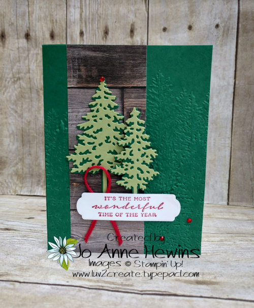 In the Pines with In Good Taste Card by Jo Anne Hewins
