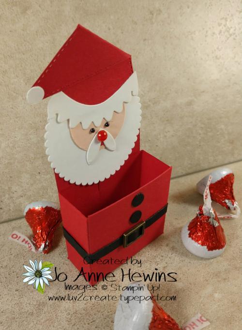 Little Treat Box Dies Santa Treat Holder by Jo Anne Hewins