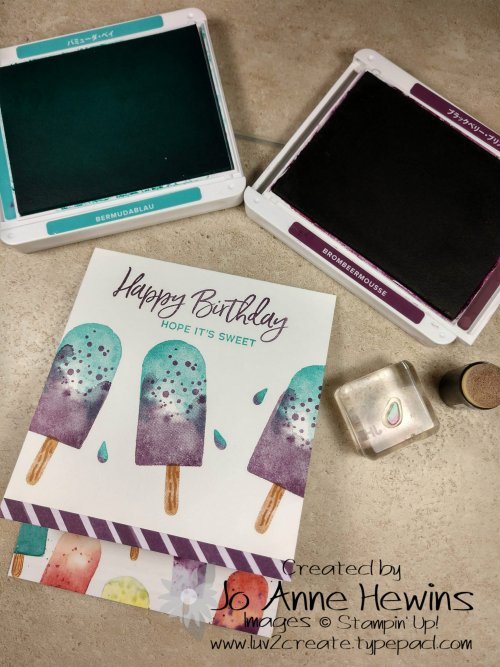 Ice Cream Corner Suite Card Drops with Dauber by Jo Anne Hewins