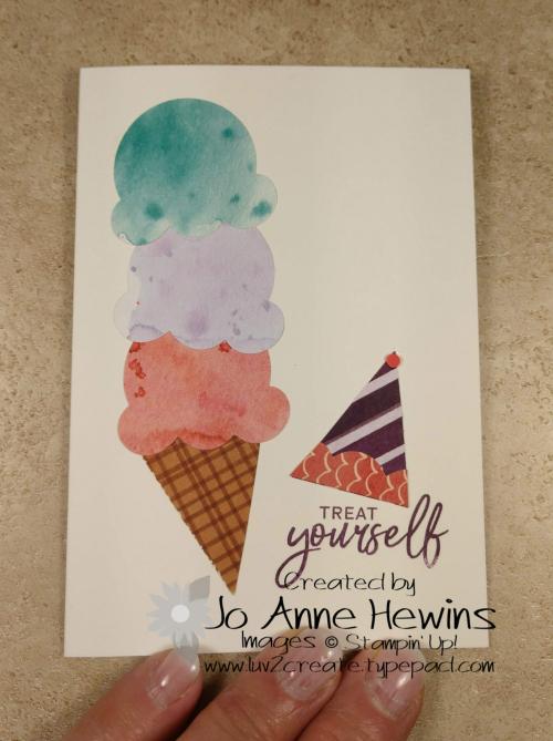 Ice Cream Corner Suite Masked Cone by Jo Anne Hewins