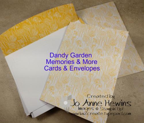 Dandy Garden Memories & More Cards & Envelopes by Jo Anne Hewins