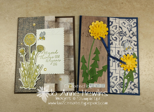Garden Wishes Fun Fold Duo of Cards by Jo Anne Hewins