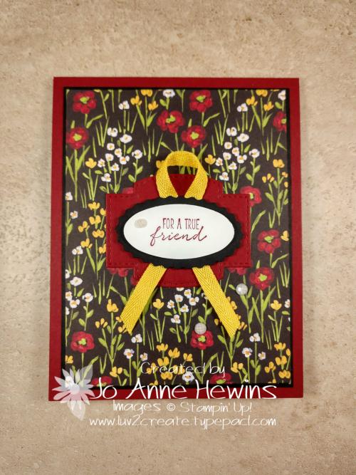 Flower & Field Simple Card by Jo Anne Hewins