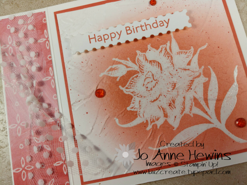 Flowering Blooms Birthday Card Close Up by Jo Anne Hewins