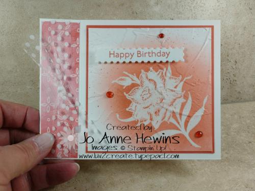 Flowering Blooms Birthday Emboss by Jo Anne Hewins