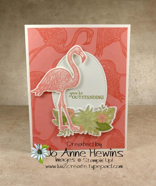 Friendly Flamingo Card by Jo Anne Hewins