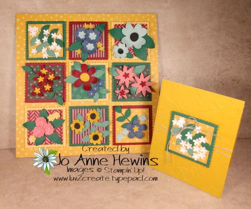 In Bloom Flower & Field Sampler & Card by Jo Anne Hewins