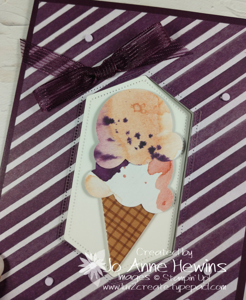 Swing Fold Sweet Ice Cream Close Up by Jo Anne Hewins