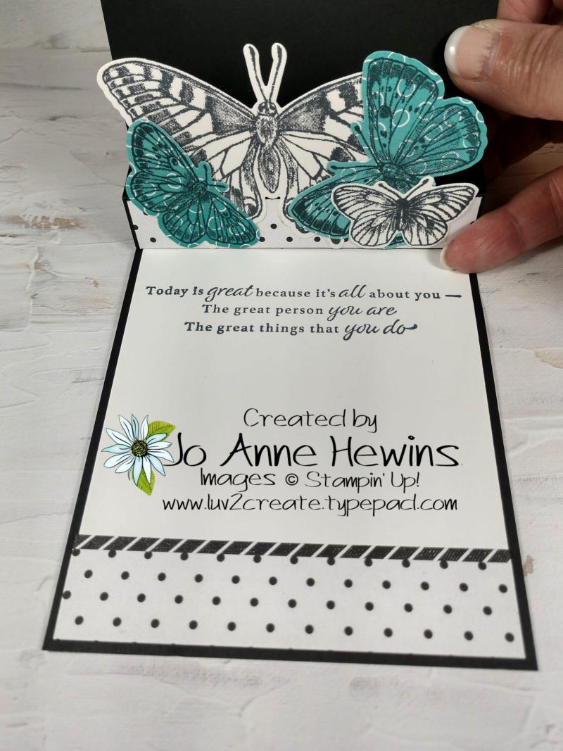 Butterfly Brillance Pop Up Inside by Jo Anne Hewins