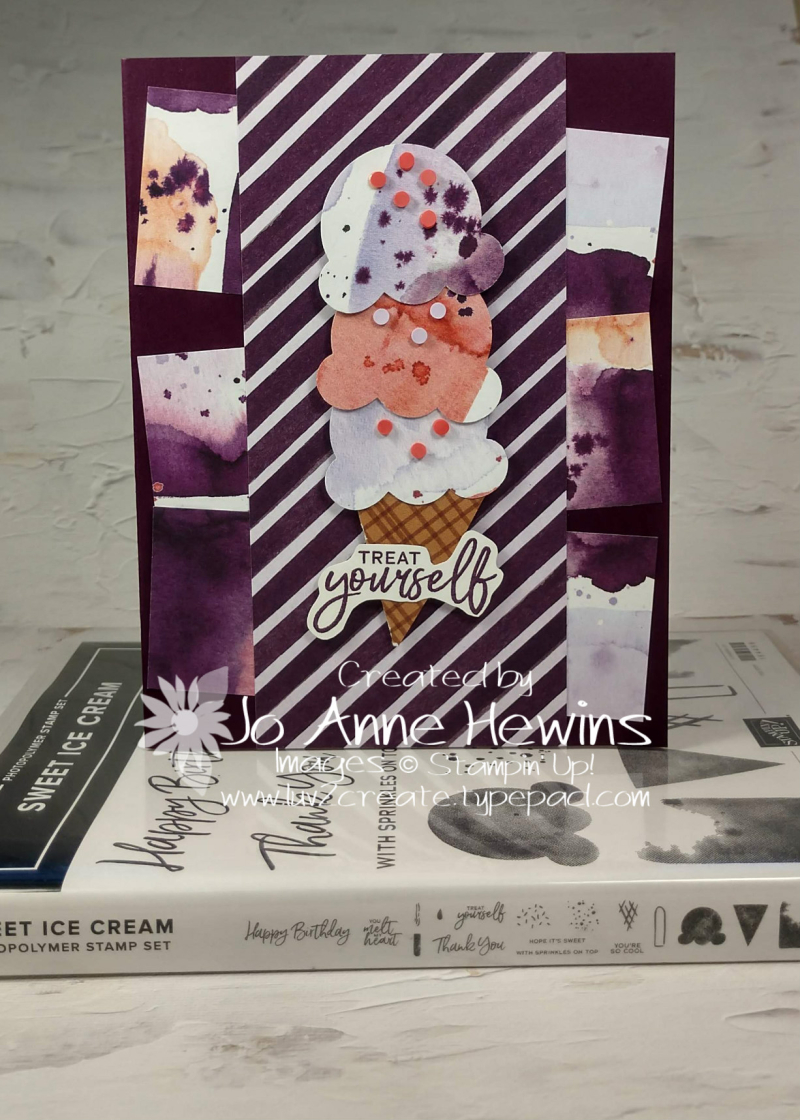 CCMC#655 Sweet Ice Cream with Stamp Set by Jo Anne Hewins
